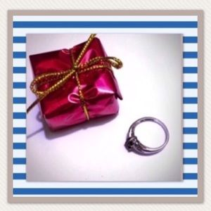 Lia Sophia retired dark sapphire Melissa ring
